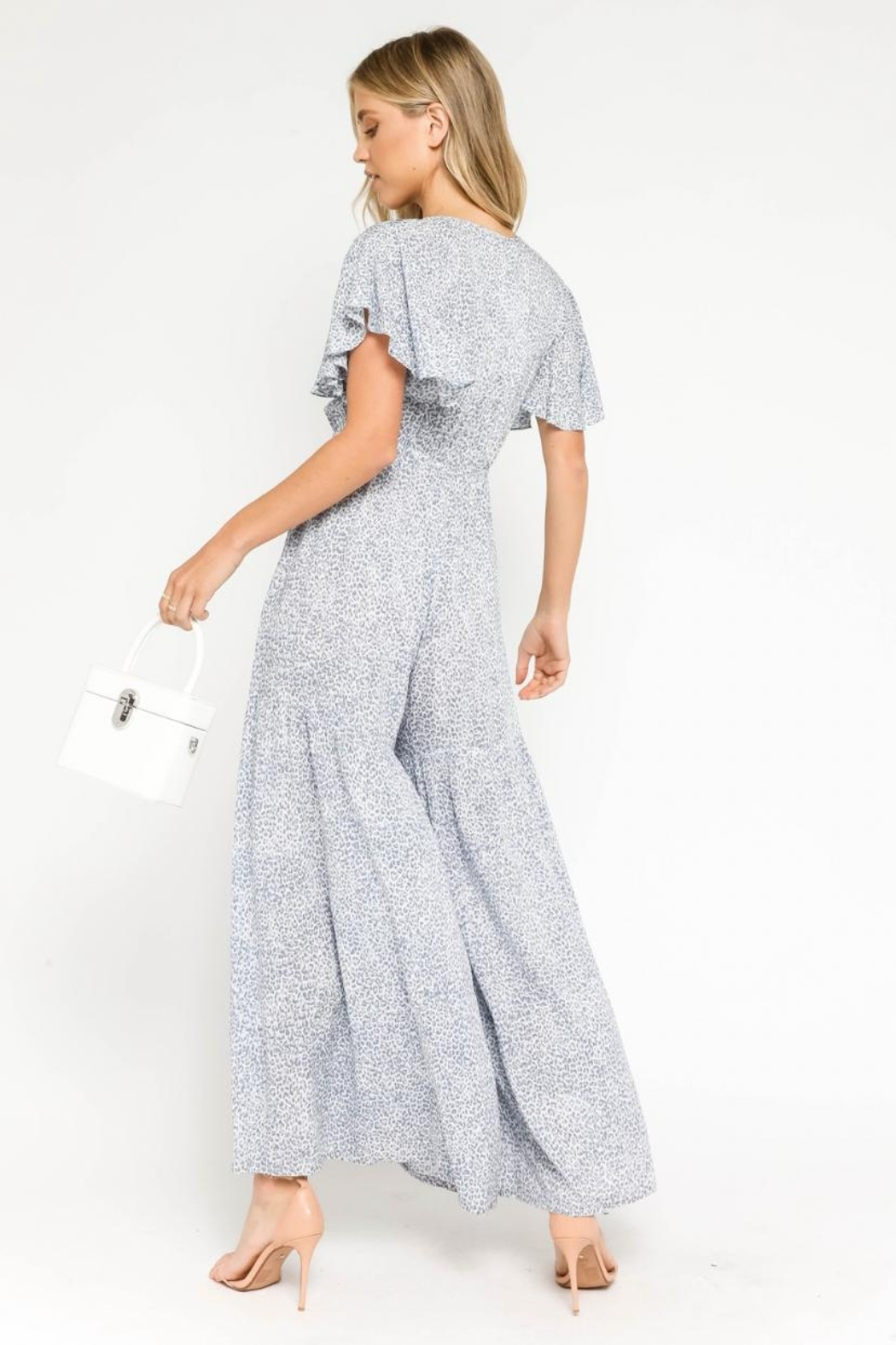 Olivaceous Animal Print Jumpsuit - Side Cropped Image