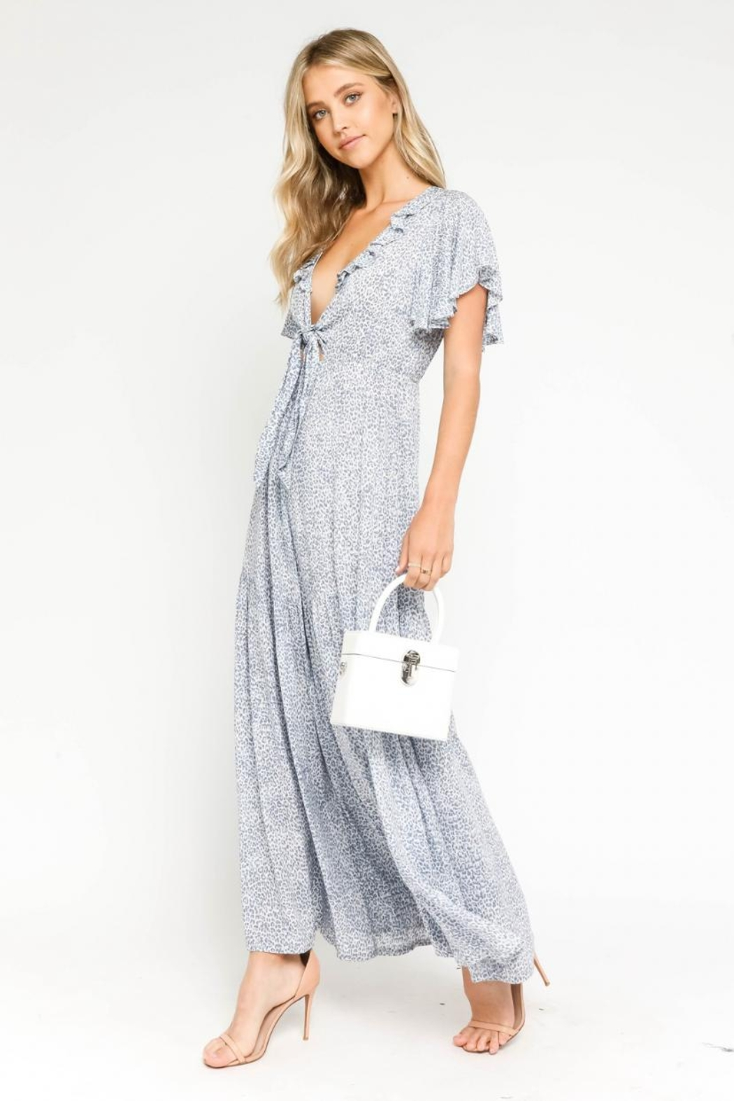 Olivaceous Animal Print Jumpsuit - Front Full Image