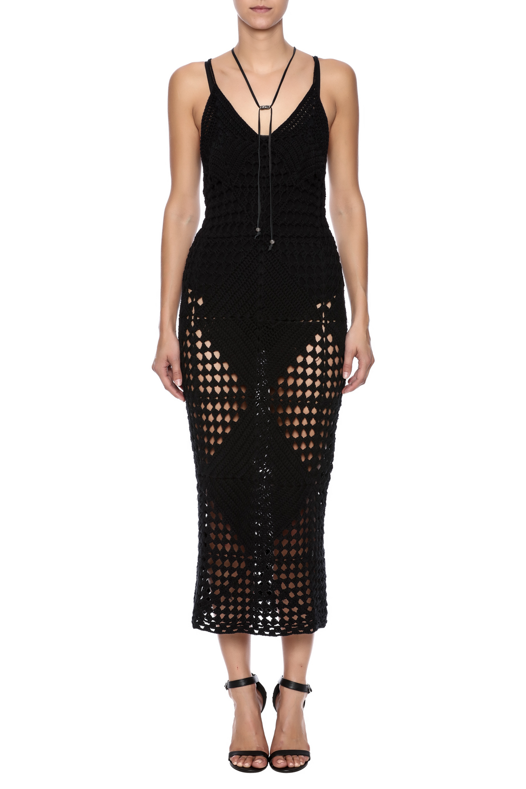 Olivaceous Black Miami Dress - Front Cropped Image