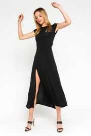 Olivaceous Black Midi Dress - Front cropped