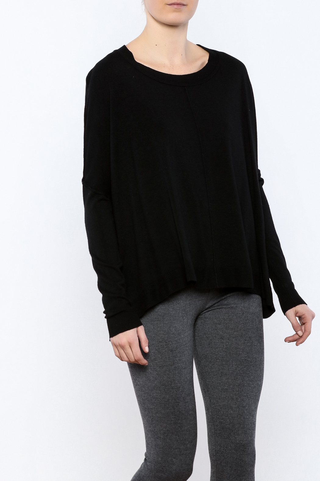 Olivaceous Black Soft Sweater from Miami by Allie & Chica — Shoptiques