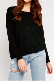 Olivaceous Black Zipper-Back Sweater - Product Mini Image