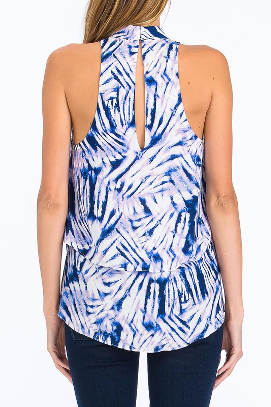 Olivaceous Blue Choker Tank - Front Full Image