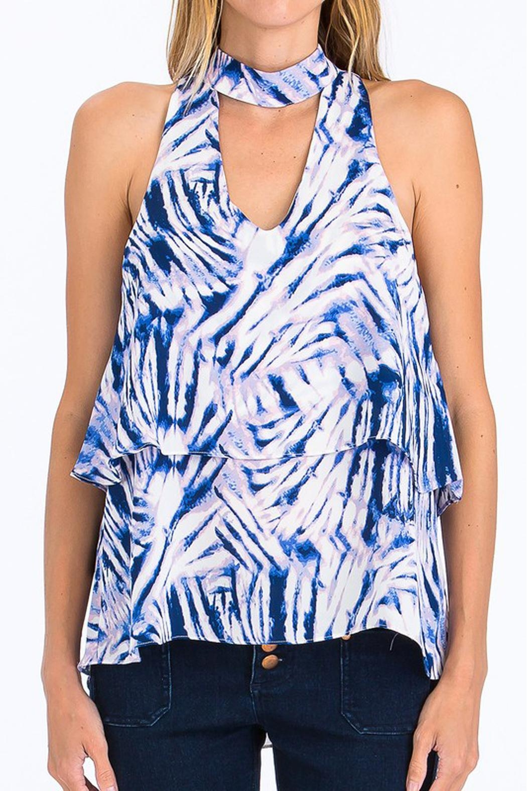 Olivaceous Blue Choker Tank - Main Image