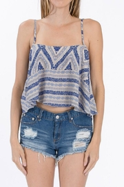 Olivaceous Blue Crop Top - Product Mini Image
