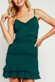 Olivaceous Blue-Green Ruffle Dress - Product Mini Image