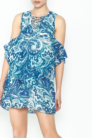 Olivaceous Blue Printed Dress - Product Mini Image