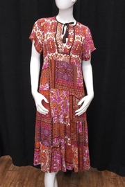 Olivaceous Boho Midi Dress - Product Mini Image