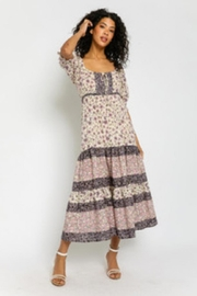 Olivaceous Boho Print Dress - Product Mini Image