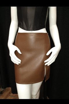 Olivaceous Brown Pu Skirt - Product List Image