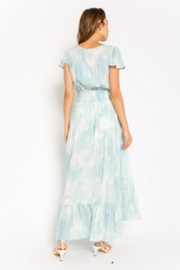 Olivaceous Button-Down Tie-Dye Dress - Front full body