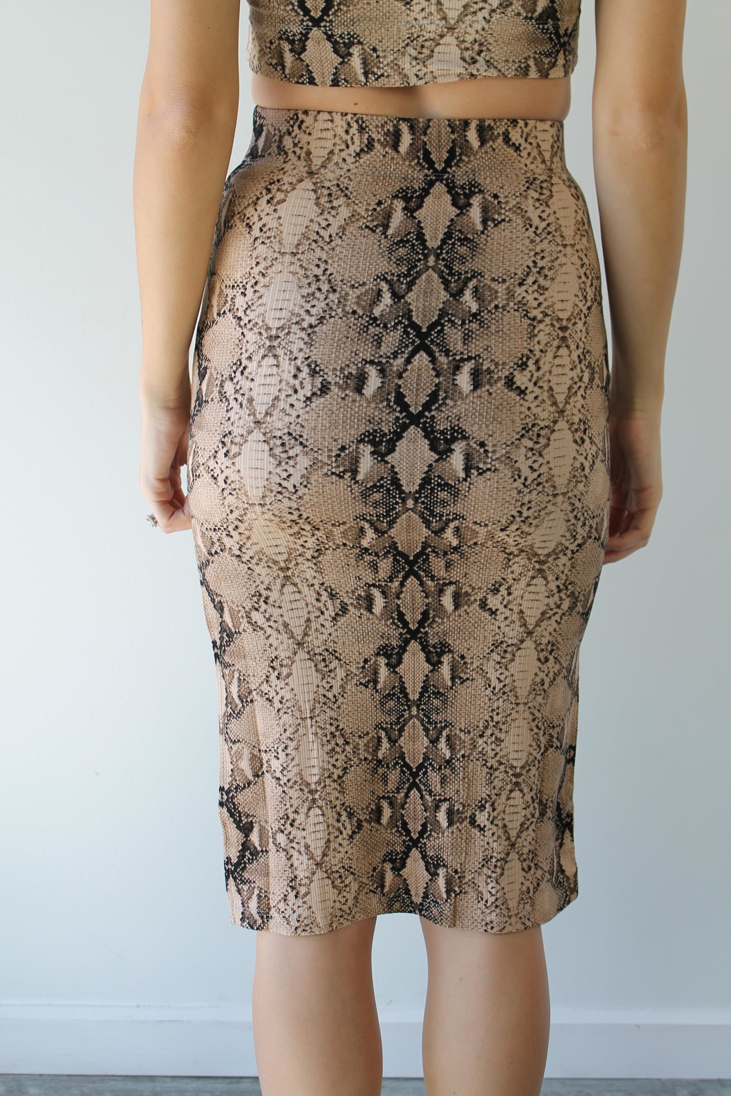 Olivaceous Call Me Skirt - Front Full Image