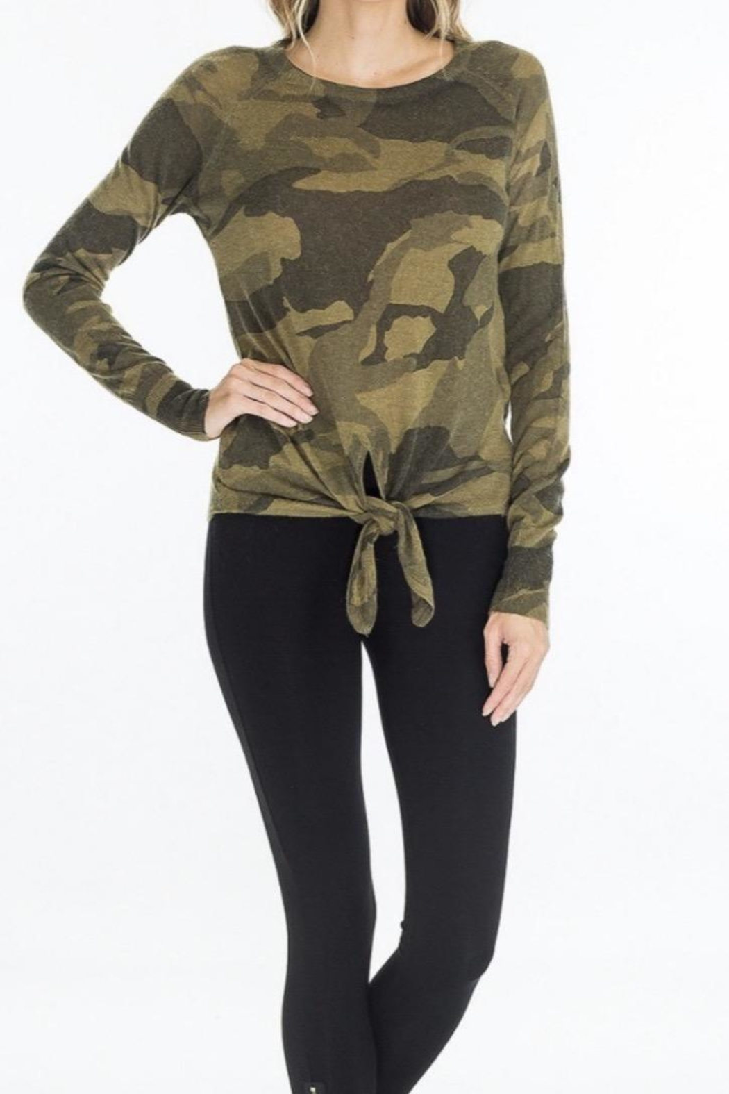Olivaceous Camo Tie Sweater - Main Image