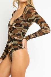 Olivaceous Camouflage Bodysuit - Back cropped
