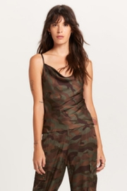 Olivaceous Camouflage Print Top - Product Mini Image