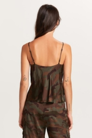 Olivaceous Camouflage Print Top - Front full body