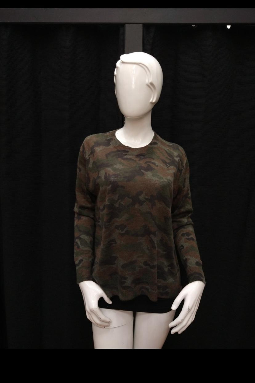 Olivaceous Camouflage Sweater Top - Main Image