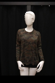 Olivaceous Camouflage Sweater Top - Product Mini Image
