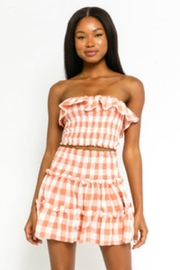 Olivaceous Checkered Skirt Set - Product Mini Image