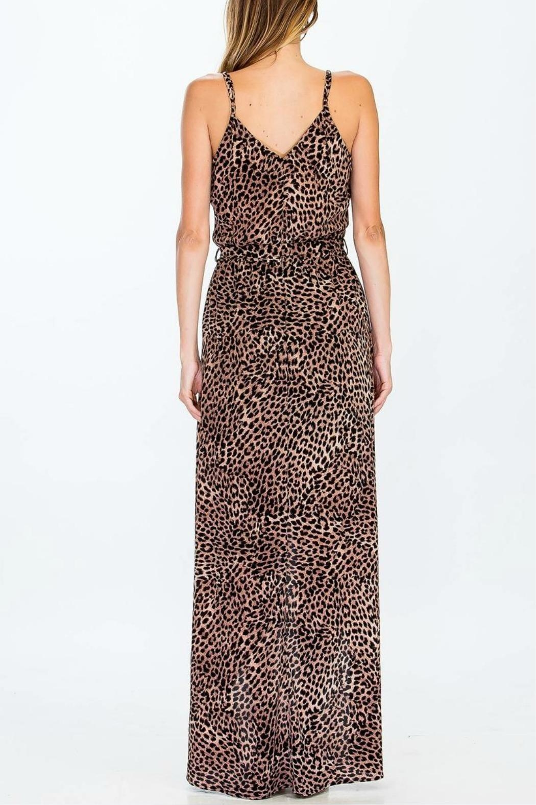 Olivaceous Cheetah Maxi Dress - Front Full Image