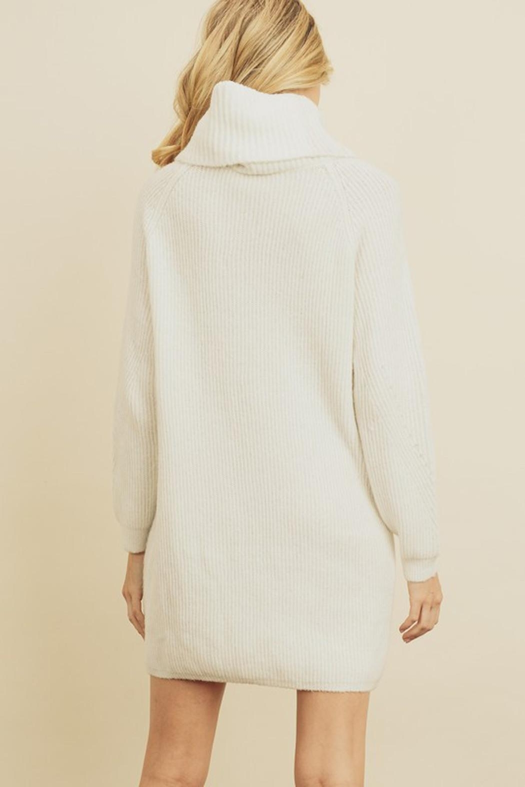 Olivaceous Chunky Sweater Dress - Side Cropped Image