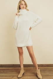 Olivaceous Chunky Sweater Dress - Back cropped