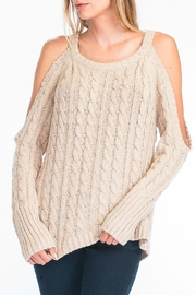 Olivaceous Cold Shoulder Sweater - Product Mini Image