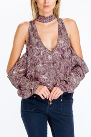 Olivaceous Cold Shoulder Top - Product Mini Image
