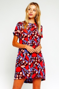 Olivaceous Colorful Shift Dress - Product List Image