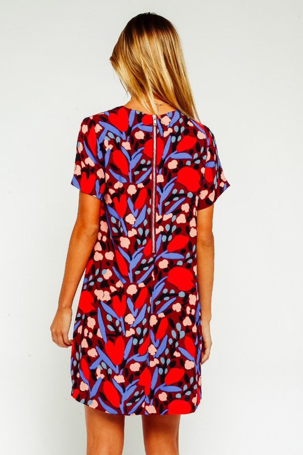 Olivaceous Colorful Shift Dress - Front Full Image