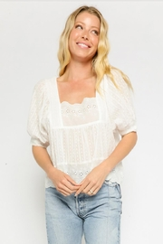 Olivaceous Cotton Eyelet Top - Product Mini Image