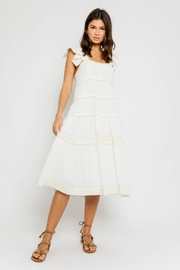Olivaceous Cotton White Dress - Front cropped