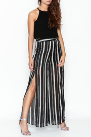 Olivaceous Crepe Swing Crop Top - Side cropped