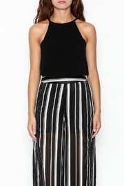 Olivaceous Crepe Swing Crop Top - Front full body