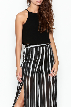 Olivaceous Crepe Swing Crop Top - Product List Image