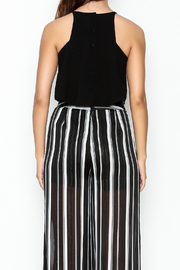 Olivaceous Crepe Swing Crop Top - Back cropped