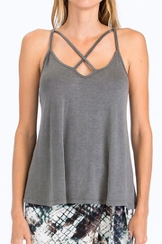 Olivaceous Criss-Cross Strappy Tank - Product Mini Image