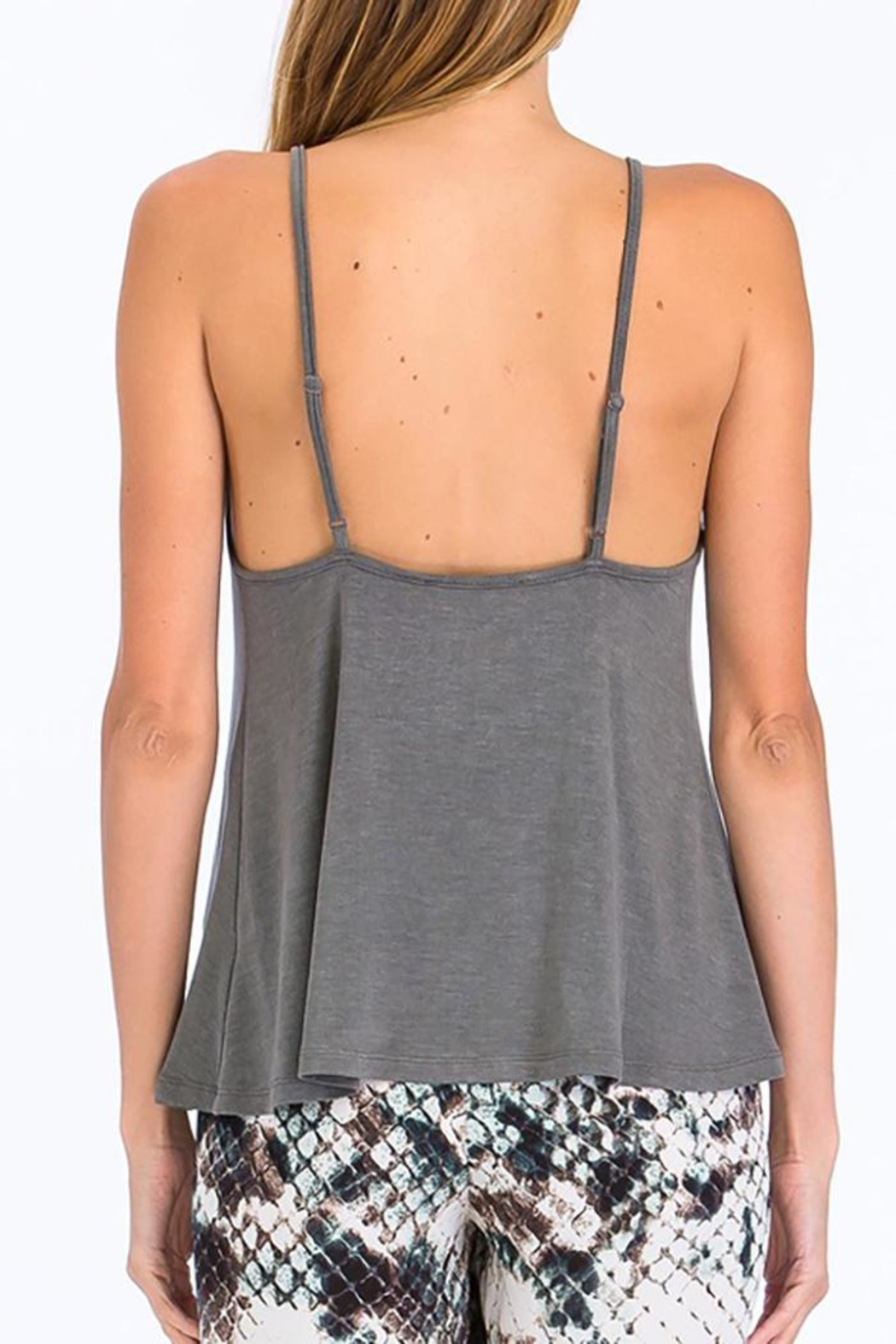 Olivaceous Criss-Cross Strappy Tank - Side Cropped Image