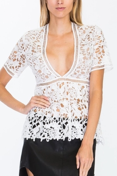 Olivaceous Crochet Peplum Top - Alternate List Image