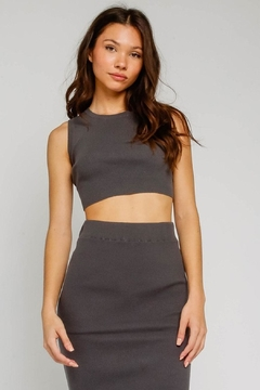 Olivaceous Cropped Tank - Product List Image