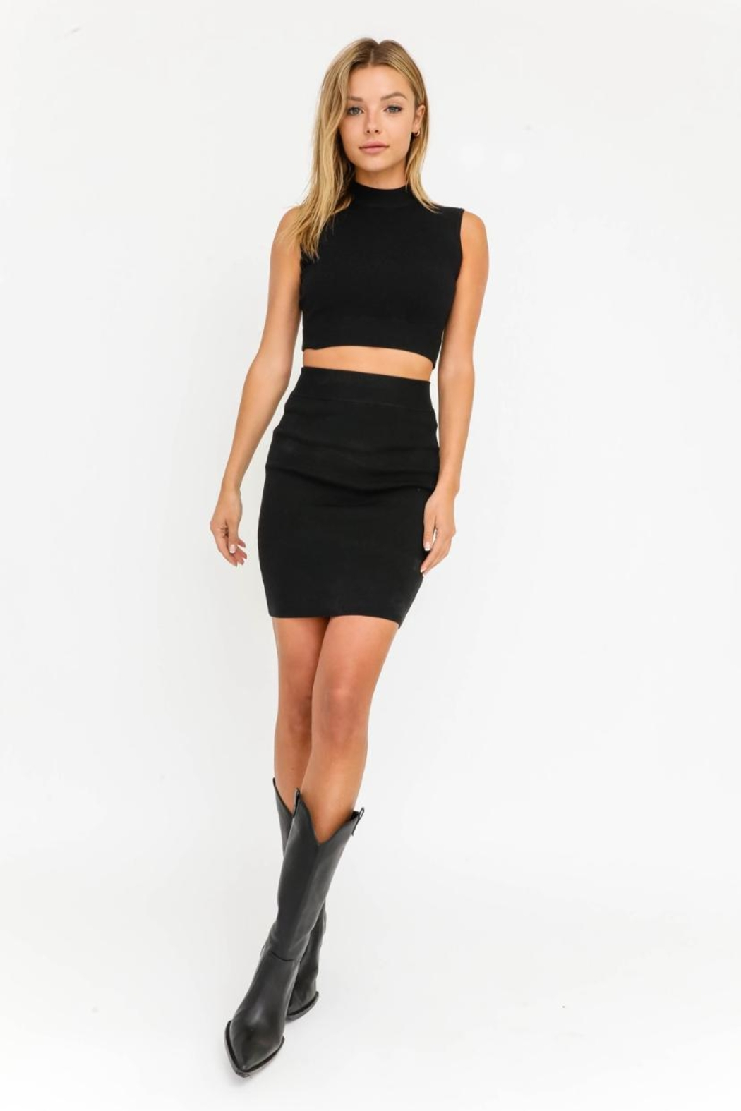Olivaceous Cut-Out Mini Dress - Front Cropped Image
