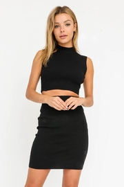 Olivaceous Cut-Out Mini Dress - Front full body