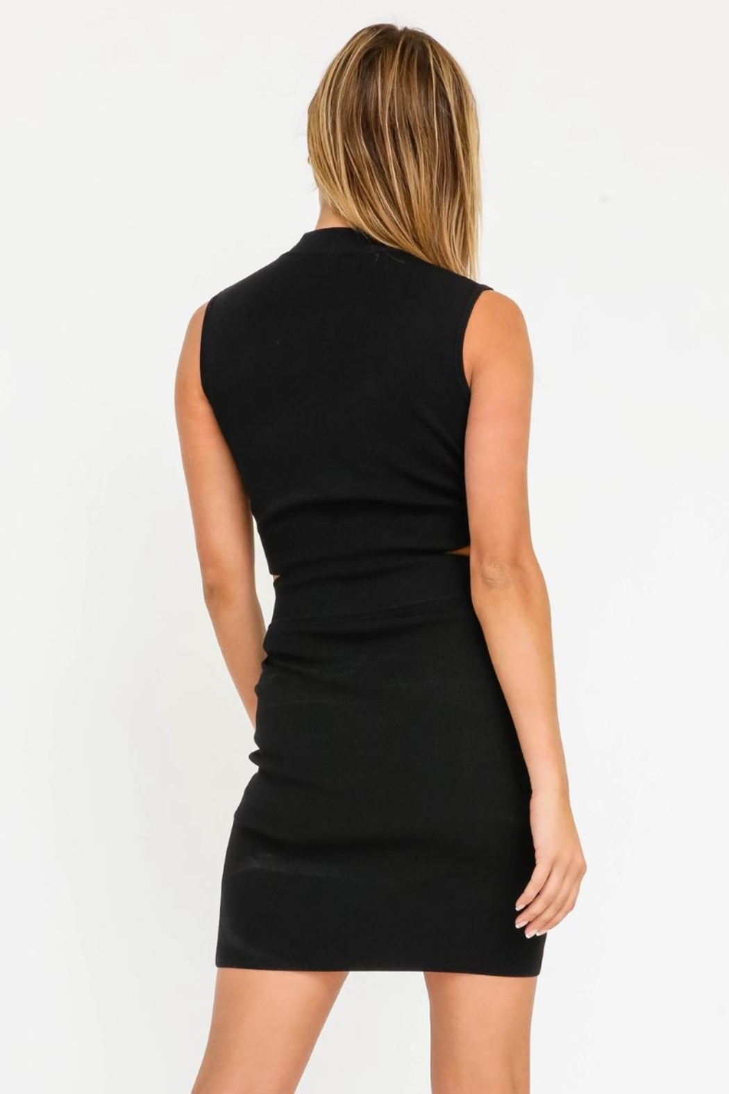 Olivaceous Cut-Out Mini Dress - Back Cropped Image