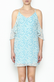 Olivaceous Daisy Off Shoulder Dress - Front full body