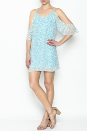 Olivaceous Daisy Off Shoulder Dress - Side cropped