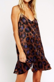 Olivaceous Dark Leopard Minidress - Front cropped