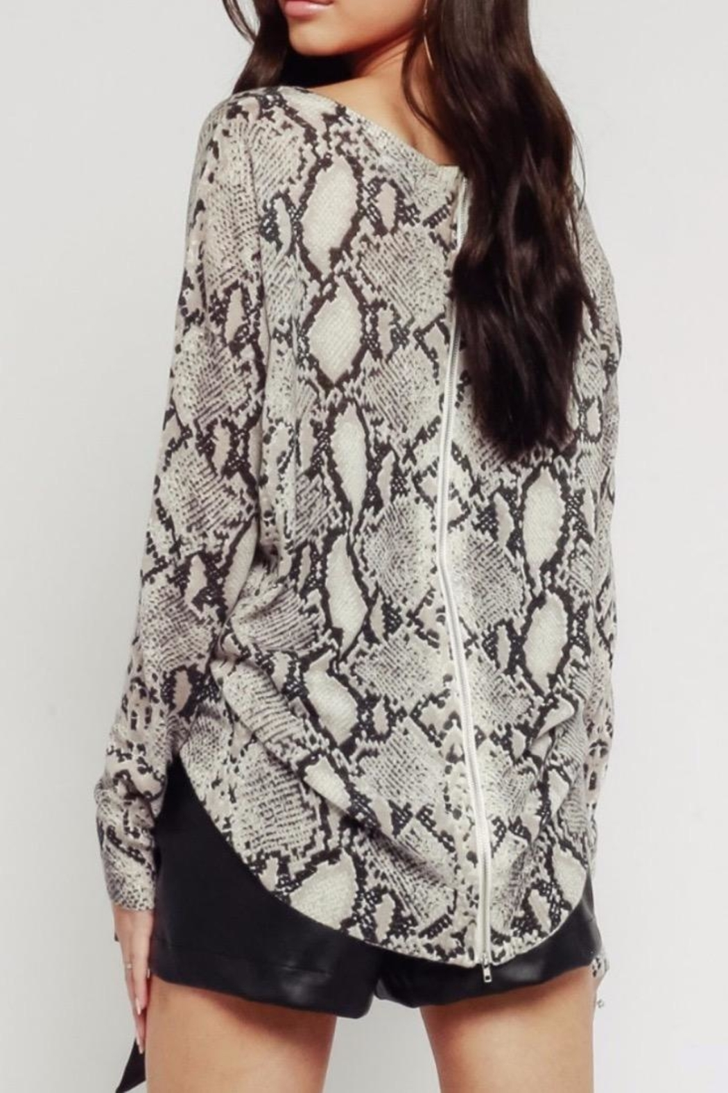 Olivaceous Dark Snake Sweater - Front Full Image