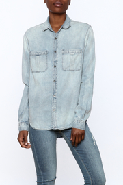 Olivaceous Denim Button Down Top - Product Mini Image