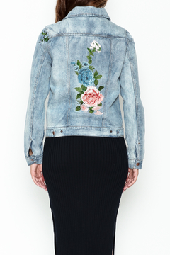 Olivaceous Denim Floral Jacket - Alternate List Image