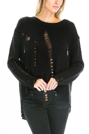 Olivaceous Distressed Hilo Sweater - Side cropped